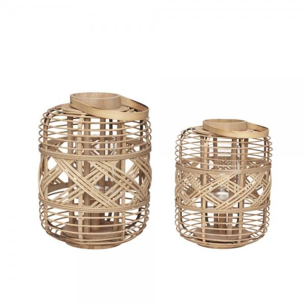 Laternen Set aus Bambus natur