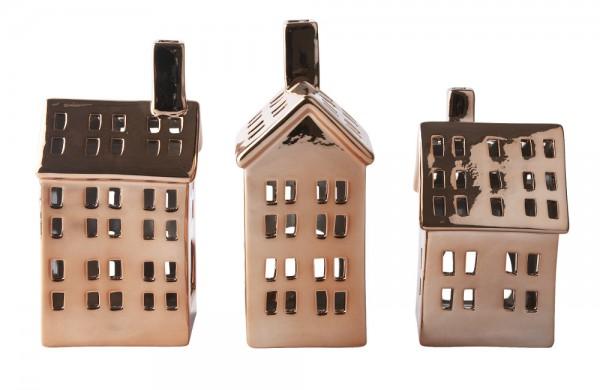 Laternenhaus-Set Kupferoptik