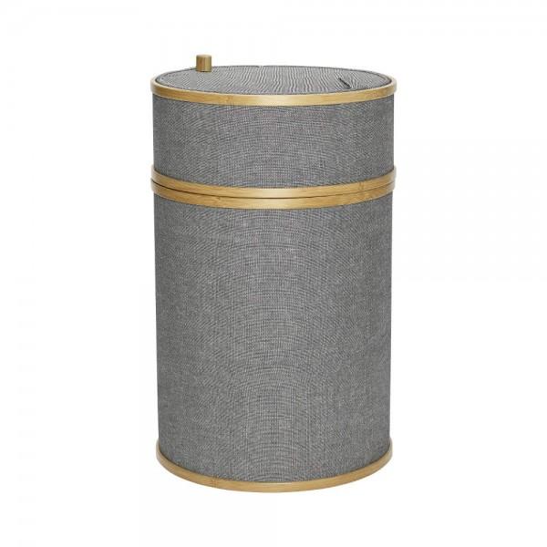 Hübsch Wäschekorb grau rund