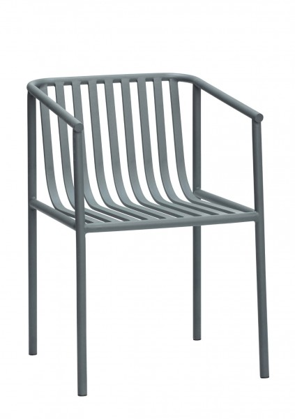 Gartenstuhl Metall grau