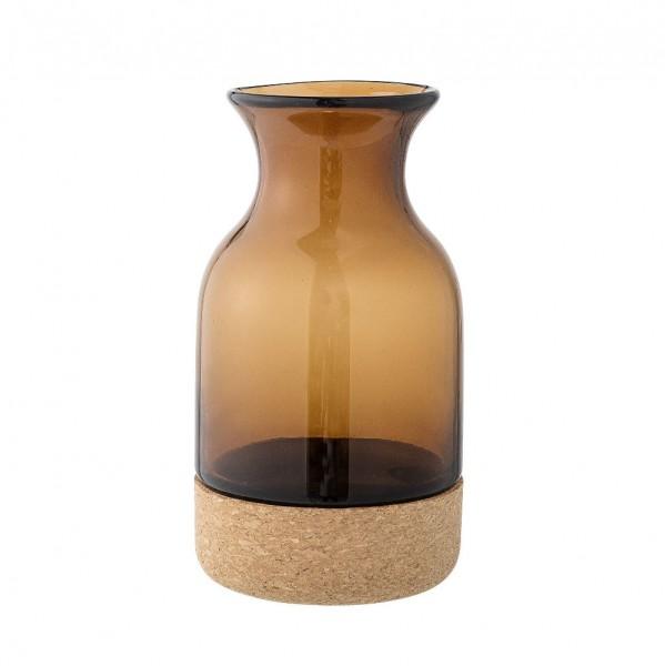 Vase aus Glas und Kork