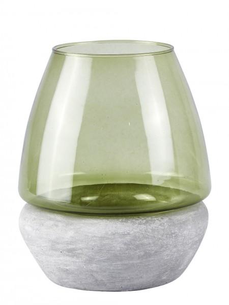 Vase aus Glas und Zement